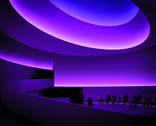 Work by James Turrell - Guggenheim Museum NY